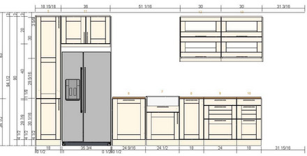 Baking Bites Kitchen Layout Sketch (North)