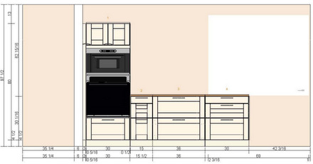 Baking Bites Kitchen Layout Sketch (South)