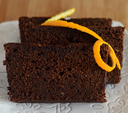 Chocolate Tangerine Pound Cake