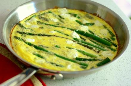 Asparagus & Goat Cheese Frittata