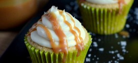 Irish Cream and Salted Caramel Cupcakes