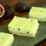 Passion Fruit Cheesecake Bars with Coconut Shortbread Crust