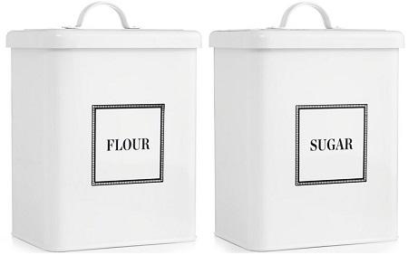 Martha Stewart Vintage-Inspired Flour & Sugar Containers