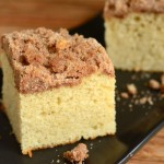 Vanilla Bean Coffee Cake with Greek Yogurt