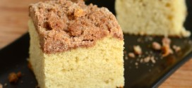 Vanilla Bean Coffee Cake with Greek Yogurt and Cinnamon Streusel