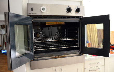 Baking Bites' American Range French Door Gas Oven