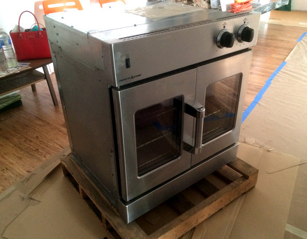 Baking Bites' American Range French Door Gas Oven, pre-installation