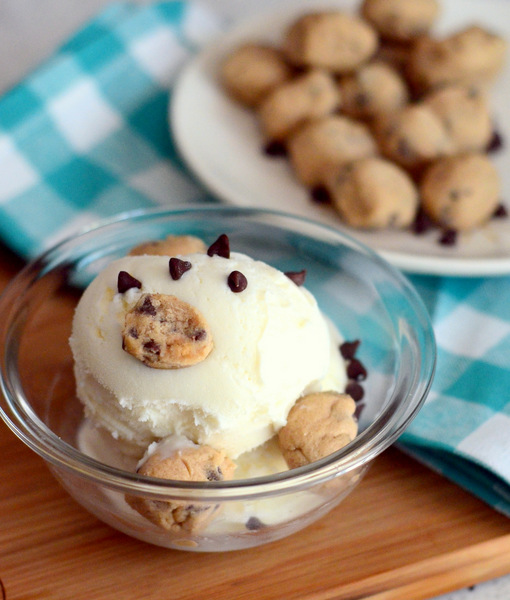 Gluten Free Chocolate Chip Cookie Dough for Ice Cream