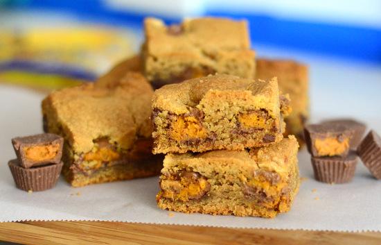 Peanut Butter Butterfinger Chunk Bars - Baking Bites