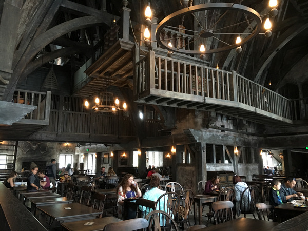 Lunch at The Three Broomsticks