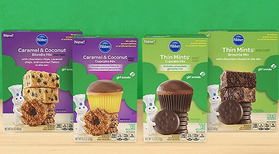 Pillsbury Launches Girl Scout Cookie Flavored Baking Mixes