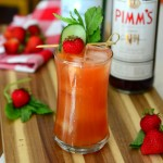 Strawberry Cucumber Pimm's Cup