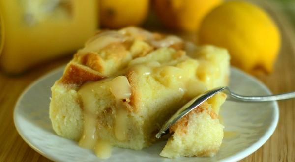Lemon Curd Bread Pudding
