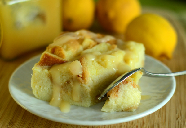 Lemon Curd Bread Pudding