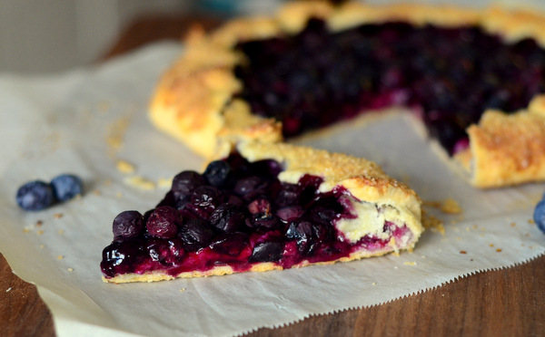 Blueberry Lemon Cheesecake Galette
