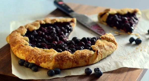 Blueberry Lemon Cheesecake Galette