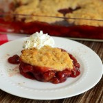Whole Wheat Cinnamon Cherry Cobbler
