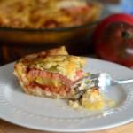 Rainbow Heirloom Tomato Pie