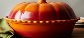 Pumpkin Covered Pie Dish