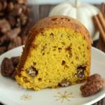 Pumpkin Praline Pecan Bundt Cake