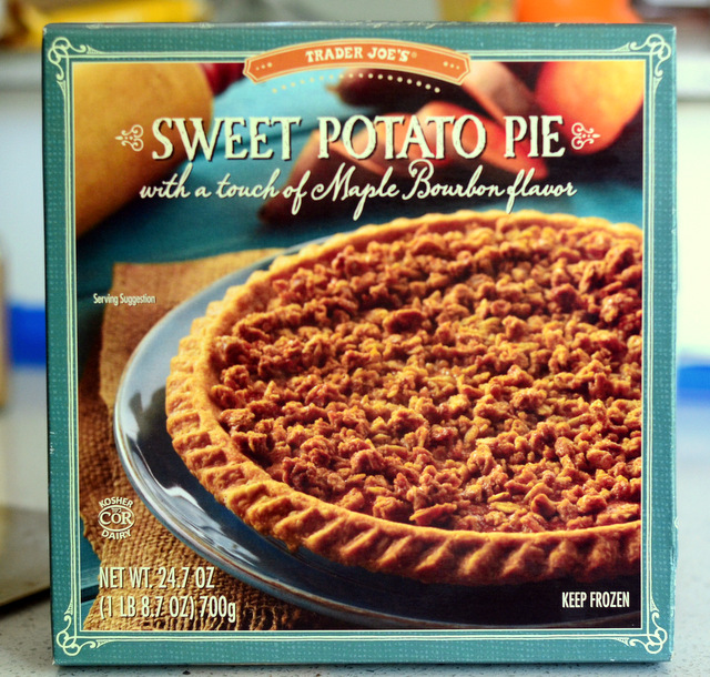 Trader Joe's Sweet Potato Pie with Maple and Bourbon, reviewed