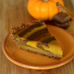 Chocolate-Striped Pumpkin Pie