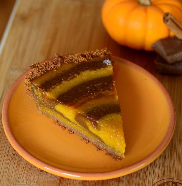 Chocolate-Striped Pumpkin Pie