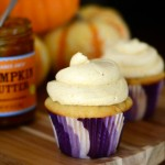 Pumpkin Butter Swirled Cupcakes with Pumpkin Buttercream