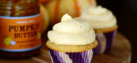 Pumpkin Butter-Swirled Cupcakes with Pumpkin Buttercream
