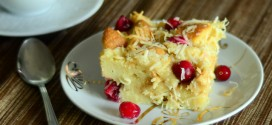 Coconut Cranberry Bread Pudding