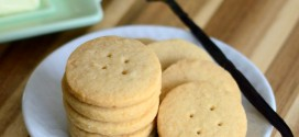 Vanilla Brown Sugar Shortbread Buttons