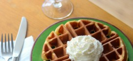 Eggnog Belgian Waffles