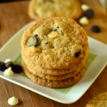 Triple Chocolate Chip Coconut Oatmeal Cookies