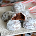 Peppermint Mocha Snowball Cookies