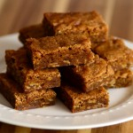 Gingerbread Oatmeal Blondies