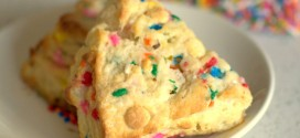 Funfetti White Chocolate Scones