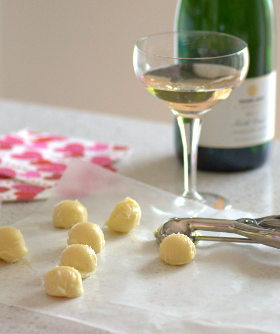 Champagne White Chocolate Truffles