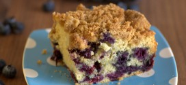 Sour Cream Blueberry Coffee Cake with Brown Sugar Streusel