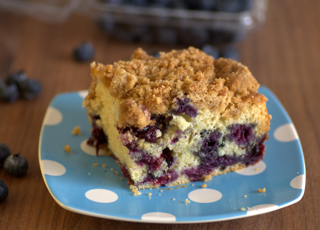 Sour Cream Blueberry Coffee Cake with Brown Sugar Streusel ...