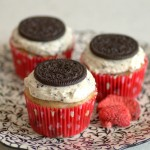 Chocolate-Covered Strawberry Oreo Cupcakes