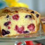 Olive Oil Lemon Berry Loaf Cake
