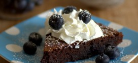 Flourless Blueberry Chocolate Cake