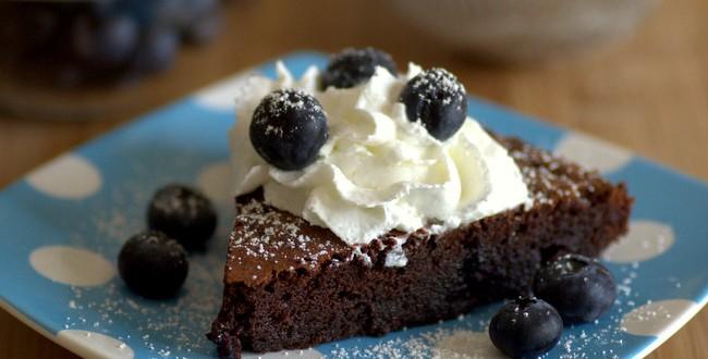 Flourless Blueberry Chocolate Cake
