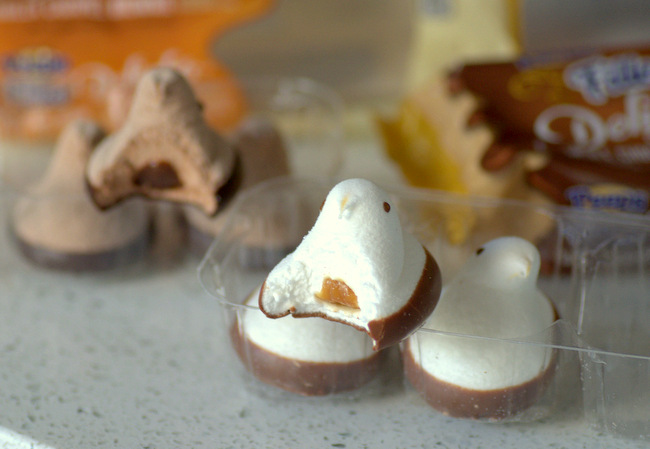 Peeps Filled Delights Triple Chocolate & Vanilla Caramel, reviewed