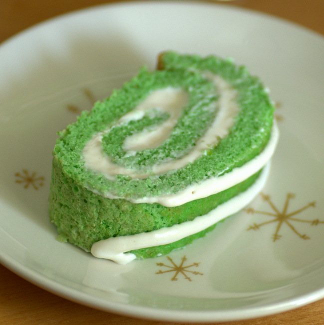 St Patrick's Day Cake Roll