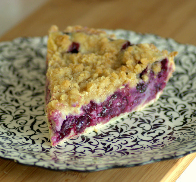 Lemom Blueberry Ricotta Pie