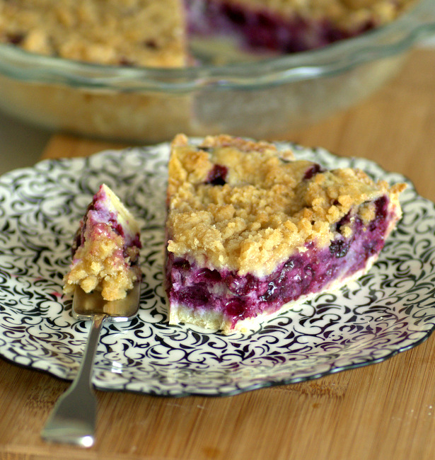 Lemon Blueberry Ricotta Pie