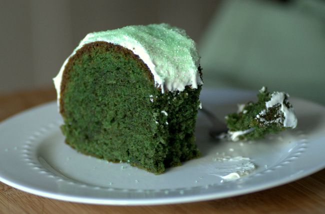 Baking Bites for Craftsy: Green Velvet Bundt Cake