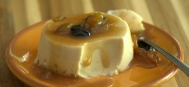 Sweet Sherry Panna Cotta with Caramel Raisin Sauce