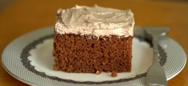 Old Fashioned Chocolate Sheet Cake with Mocha Buttercream